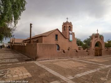 L'Église de San Pedro de Atacama datant du 17e s.